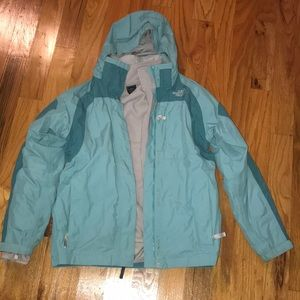 North Face women's XL rain jacket w/ fleece liner